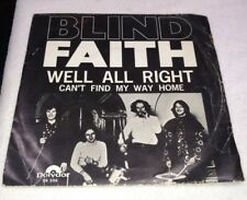 """BLIND FAITH ERIC CLAPTON """"CAN'T FIND MY WAY HOME"""" 1969 HOLLAND 45 w/ PIC SLEEVE"""