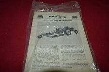 Ford Tractor 22-60 Rotary Cutter Operator's Manual YABE13