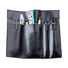 Vintage Faux Leather Roll Up Pen Pencil Case Box Bag Makeup Pouch Purse Wide