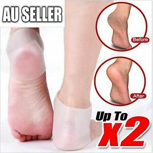 1 Pair New Silicone Moisturizing Gel Heel Socks Cracked Foot Skin Care Protector