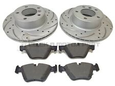 BMW E90 320D FRONT 2 DRILLED GROOVED BRAKE DISCS & MINTEX PADS CHECK SIZE 300MM