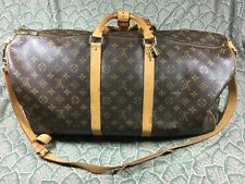 Louis Vuitton Monogram Keepall 55 Bandouliere Boston Bag M41414