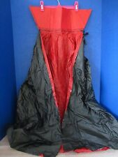 Black & Red VINYL VAMPIRE STYLE CAPE~Large Child / Small Adult