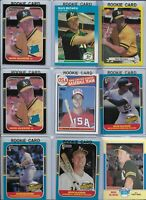 Mark McGwire A's Lot of (16) w/ (8) Rookies 1985 Topps #401 1987 Donruss #1 EX