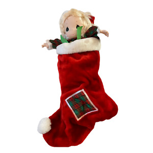 Precious Moments JINGLES Christmas Stocking Doll 1997 QVC Exclusive
