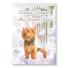 Norwich Terrier Heaven Sent Fridge Magnet No 1 Pet Loss