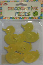 5 Adhesive Metal Yellow Duck Embellishments For Scrapbooking Card Making & Craft