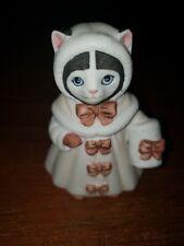 Vintage 1985 Schmid Kitty Cucumber Cat Kitten PinkCoat & Muff Christmas Ornament