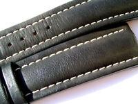 Breitling Band 624X 22mm 22/18 Kalb schwarz black Strap für Dornschliesse 019-22