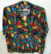 Krazy Short Sleeve Button Front Hawaiian Shirt Size XXL