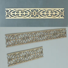 4x Dekorpaneele Bordüre Filigrane/1 Sperrholz - Wand Decke Möbel Verkleidung