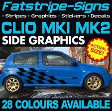 RENAULT Clio MK1 MK2 grafica Adesivi Decalcomanie Strisce SPORT 172 182 V6 RS Trophy