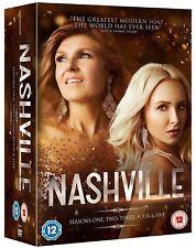 NASHVILLE 1-5 (2012-2017) Western Music TV Drama Season Series NEW UK DVD not US
