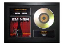 More details for eminem signed gold disc album ltd edition framed picture memorabilia