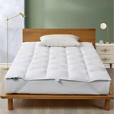 """3"""" Down Feathers Fibers Mattress Topper White Goose Feather Bed Fiber"""