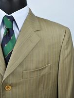 Cerruti 1881 Wolle Tweed Brown Khaki Blazer UK 40 Mantel Jacke Eu 50 Gr Sakko