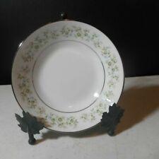 Noritake China Savannah 2031 Set of 8 Dinner Plates Platinum Trim MINT