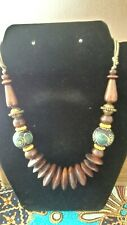 Ethnic Wooden Necklace  Bali