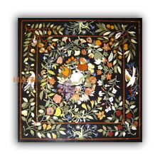 36'' Fruits Floral With Marble Dining Bird Art Top Table Inlay Living Decor B426