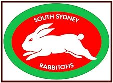 NRL South Sydney Rabbitohs Retro Emblem Sticker or Magnet