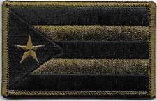 Puerto Rico Woodland Dark Green Black Flag Patch VELCRO® BRAND Fastener Compatib