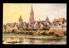 Germany Berlin Stadtmauer artist Charles E Flower Tuck #616B German edition PPC