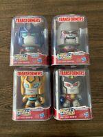 Transformers Mighty Muggs - Lot Of 4 Optimus,Bumblebee,Megatron,Starscream