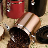 Coffee Beans Storage Canister Sealed W Exhaust Valve Stainless Steel Container