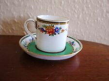 LOVELY OLD HANDPAINTED SAUCER MINTONS R144 & MIS-MATCH CUP HEATHCOTE