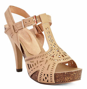 Peep Toe Sandals in Beige For Ladies UK Sizes 4 5 EU 37 38 US 6 7 With Box