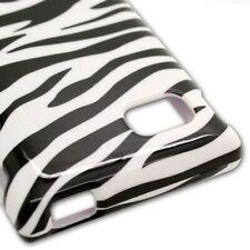 Hard Cover Protector Case for LG Optimus F3 LS720 - Black White Zebra