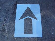 "40"" Straight Parking Lot Arrow Stencil, 1/16"" Re-Usable, Flexible LDPE Plastic"