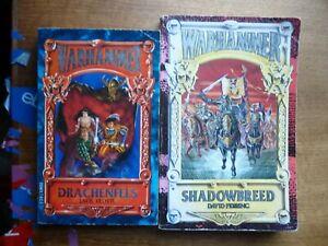 2 Warhammer novels Shadow Breed / Drachenfels Fantasy paperback books