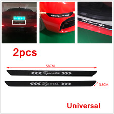 2Pcs Real Carbon Car Door Sill Scuff Cover Plates Panel Step Protector Sticker