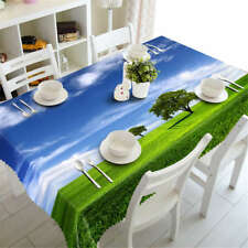 Free Breathing 3D Tablecloth Table cover Cloth Rectangle Wedding Party Banquet