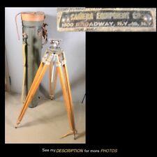 Antique Camera Equipment Co Camera / Surveying Equipment Tripod Metal Case