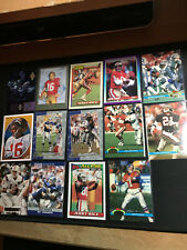 14 card NFL Football Lot vintage stars mixed years Montana, Smith, Young Sanders