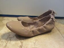 NWOB$175Cole Haan Shoes Ashlyn Nude Patent Leather/Suede Ballet Flat Shoes 6.5B