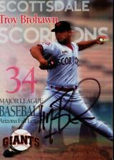 1997 Scottsdale Scorpions TROY BROHAWN Signed Card autograph DODGERS GIANTS