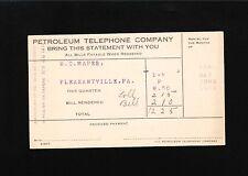 Addressed NoCancel Jefferson Postal Card Petroleum Telephone Co Pleasantville 5u