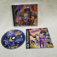 Spyro The Dragon Playstation 1 PS1 Complete Cleaned Tested Authentic FREE SHIP!