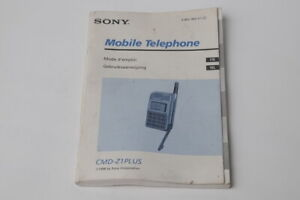 SONY CMD-Z1 PLUS GSM MOBILE PHONE MODE D'EMPLOI GEBRUIKSAANWIJZING ORIGINAL