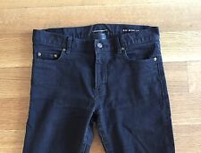 SAINT LAURENT PARIS Mens D02 Black Stretch Denim Jeans Size 31 32 x 27 $575