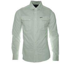 Marc Ecko Long Sleeve Woven Shirt (XL) Glacier ME32910