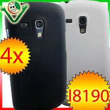 2x Pellicola+2x custodia rigida per Samsung Galaxy S3 Mini i8190 bianca nera