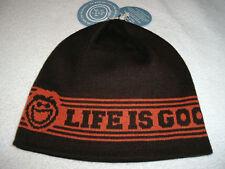 "LIFE IS GOOD - JAKE ""LOGO"" BEANIE HAT CAP SKULL SKI NWT"