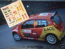 "DECAL CALCA 1/32 SLOT FIAT PUNTO S1600 ""RACC"" X. PONS RALLY MONTE CARLO 2004"