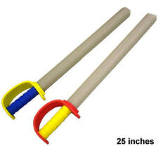 2 Foam Pirate Swords play toy sword fencing king toys novelty soft fighting new