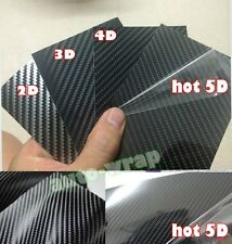 1 Set Samples - Car 2D 3D 4D 5D Carbon Fiber Vinyl Wrap Sticker Film Black AB