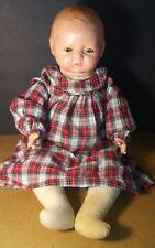 Vintage Madame Hendren Composition Baby Doll w/ Tin Sleep Eyes Antique 522